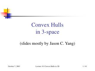 Convex Hulls in 3-space