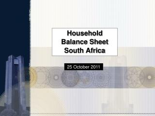 Household Balance Sheet  South Africa
