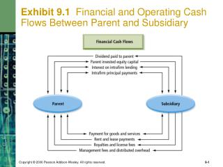 Exhibit 9.1   Financial and Operating Cash Flows Between Parent and Subsidiary