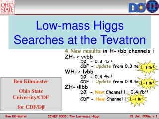 Low-mass Higgs Searches at the Tevatron