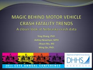 MAGIC BEHIND MOTOR VEHICLE CRASH FATALITY TRENDS A closer look at Nebraska crash data