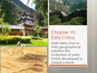 Chapter 10: Early China