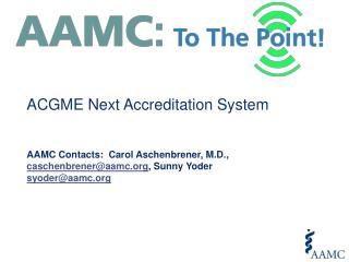 ACGME Next Accreditation System