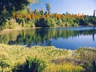 The lakes  of  the world