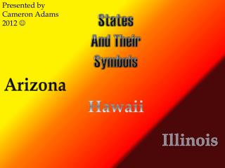 States A nd Their Symbols