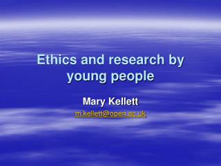 Ethics and research by young people