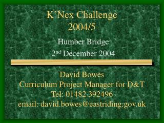 K'Nex Challenge 2004/5
