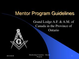 Mentor Program Guidelines