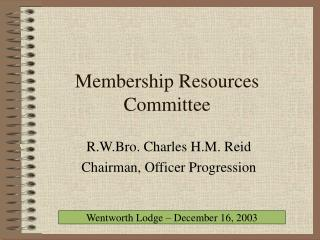 Membership Resources Committee