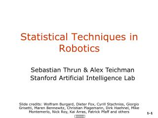Statistical Techniques in Robotics