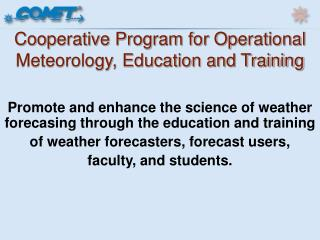 Cooperative Program for Operational Meteorology, Education and Training