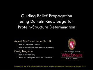 Guiding Belief Propagation using Domain Knowledge for Protein-Structure Determination