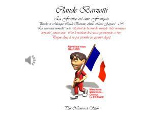 Claude Barzotti La France est aux Français