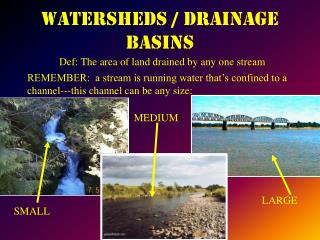 WATERSHEDS / DRAINAGE BASINS