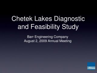 Chetek Lakes Diagnostic and Feasibility Study