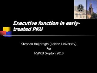 Executive function in early-treated PKU