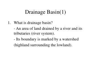 Drainage Basin(1)