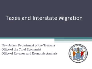 Taxes and Interstate Migration