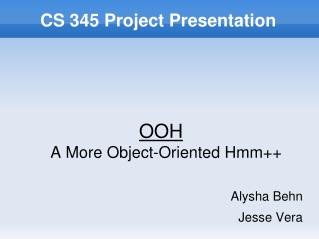 CS 345 Project Presentation