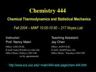 Chemistry 444