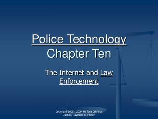 Police Technology Chapter Ten
