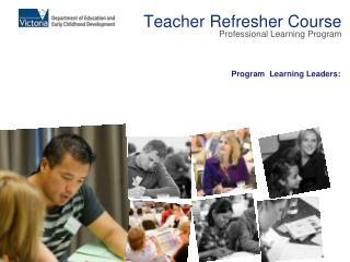 Teacher Refresher Course