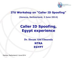 Caller ID Spoofing, Egypt experience