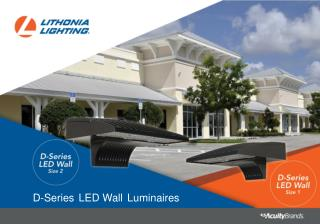 D-Series LED Wall Luminaires