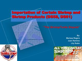 Importation of Certain Shrimp and Shrimp Products (DS58, DS61)