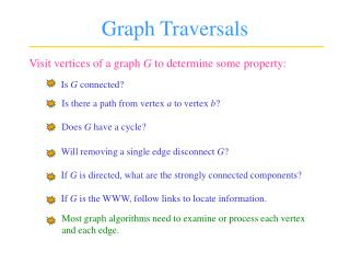 Graph Traversals