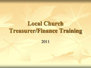 Local Church Treasurer/Finance Training