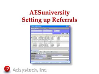 AESuniversity Setting up Referrals