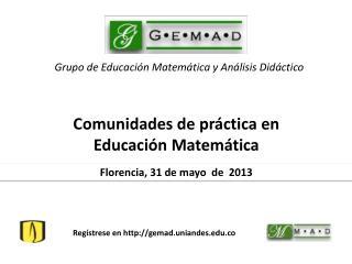 Grupo  de  Educación Matemática  y  Análisis Didáctico