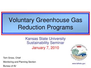Voluntary Greenhouse Gas Reduction Programs