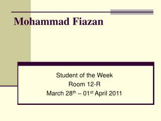 Mohammad Fiazan
