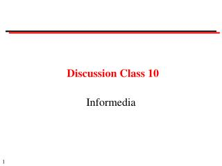 Discussion Class 10 Informedia 2