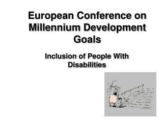 European Conference on  Millennium Development Goals