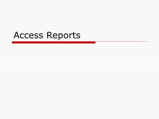 Access Reports