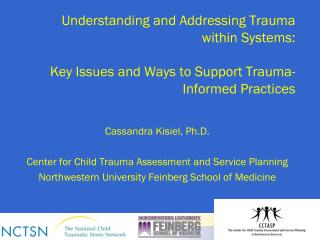 Cassandra Kisiel, Ph.D. Center for Child Trauma Assessment and Service Planning