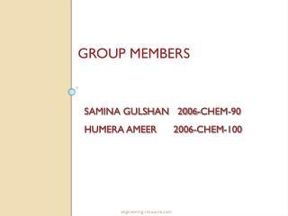 SAMINA GULSHAN   2006-CHEM-90 HUMERA AMEER      2006-CHEM-100