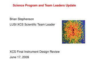 Science Program and Team Leaders Update