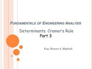 Fundamentals of Engineering Analysis