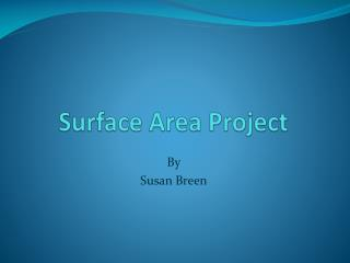 Surface Area Project