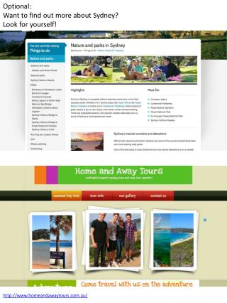 Optional: Want to find out more about Sydney? Look for yourself!