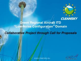 """Green Regional Aircraft ITD """"Low-Noise Configuration"""" Domain"""