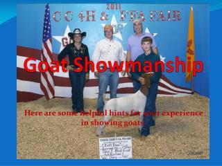 Goat Showmanship