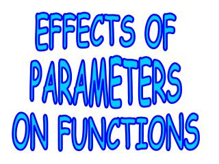EFFECTS OF PARAMETERS ON FUNCTIONS