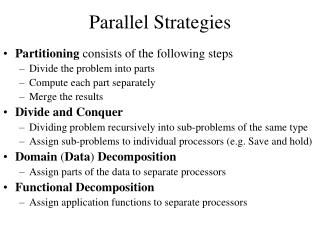 Parallel Strategies
