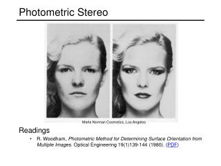 Photometric Stereo