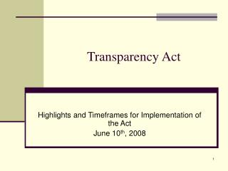 Transparency Act